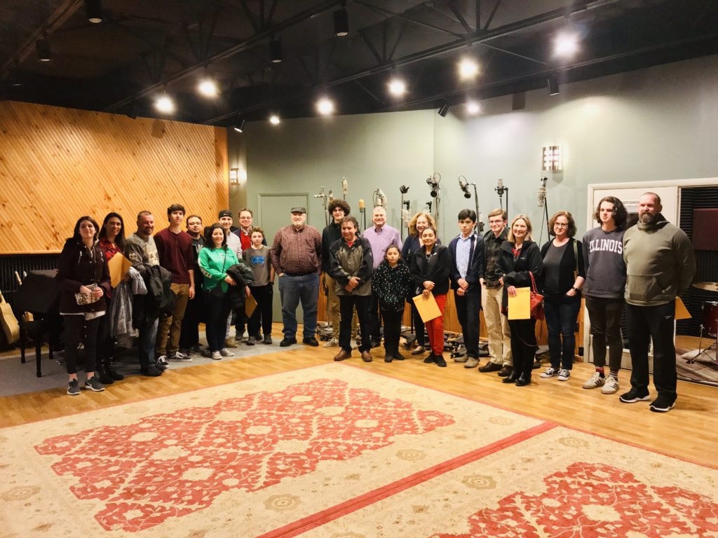 The 2019 Youth Jazz Fellows and Families / Photograph by Reverend Will Thornton