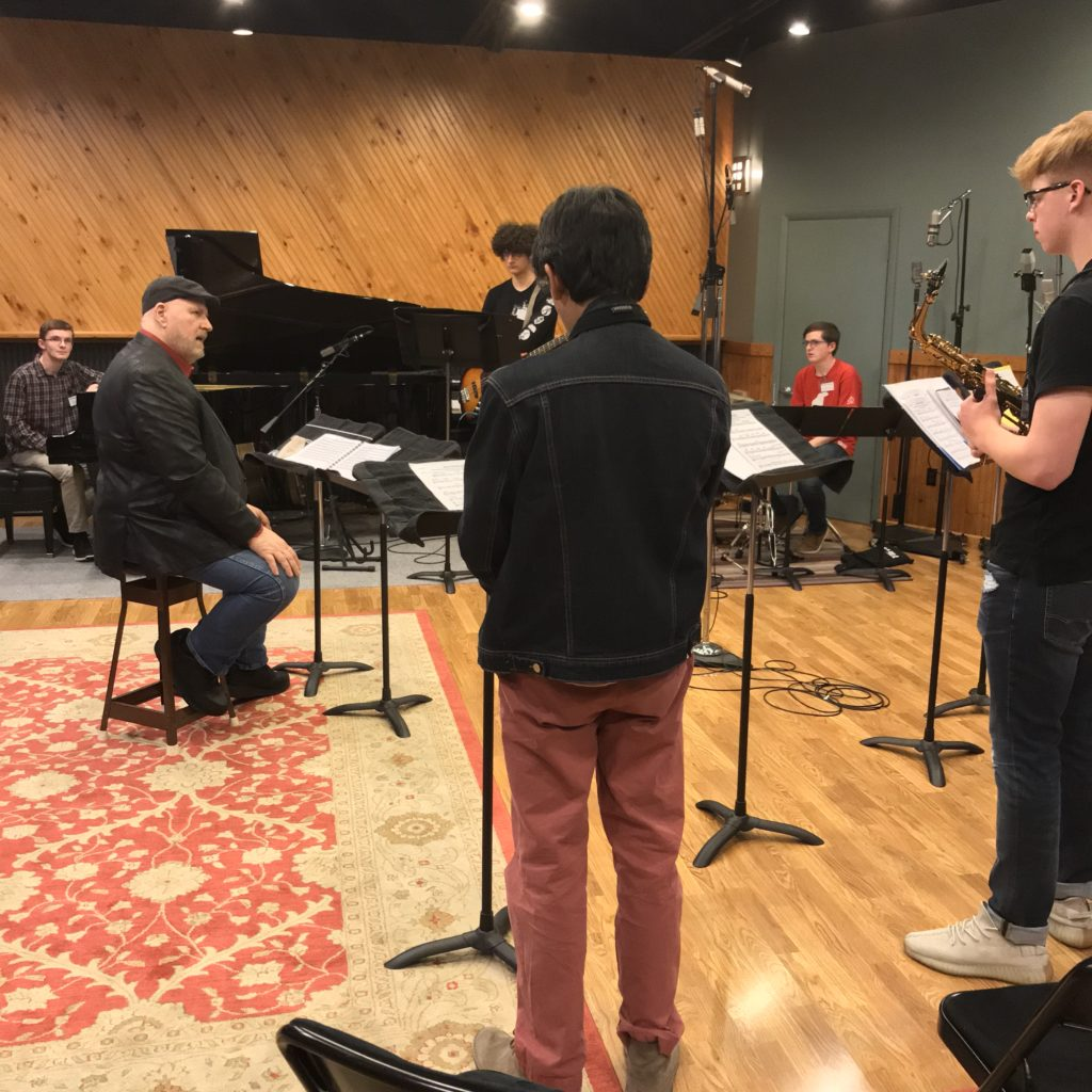 Mr. Crain master class, rehearsal and recording session; KC Area Youth Jazz Fellows - Season 1, Session 2