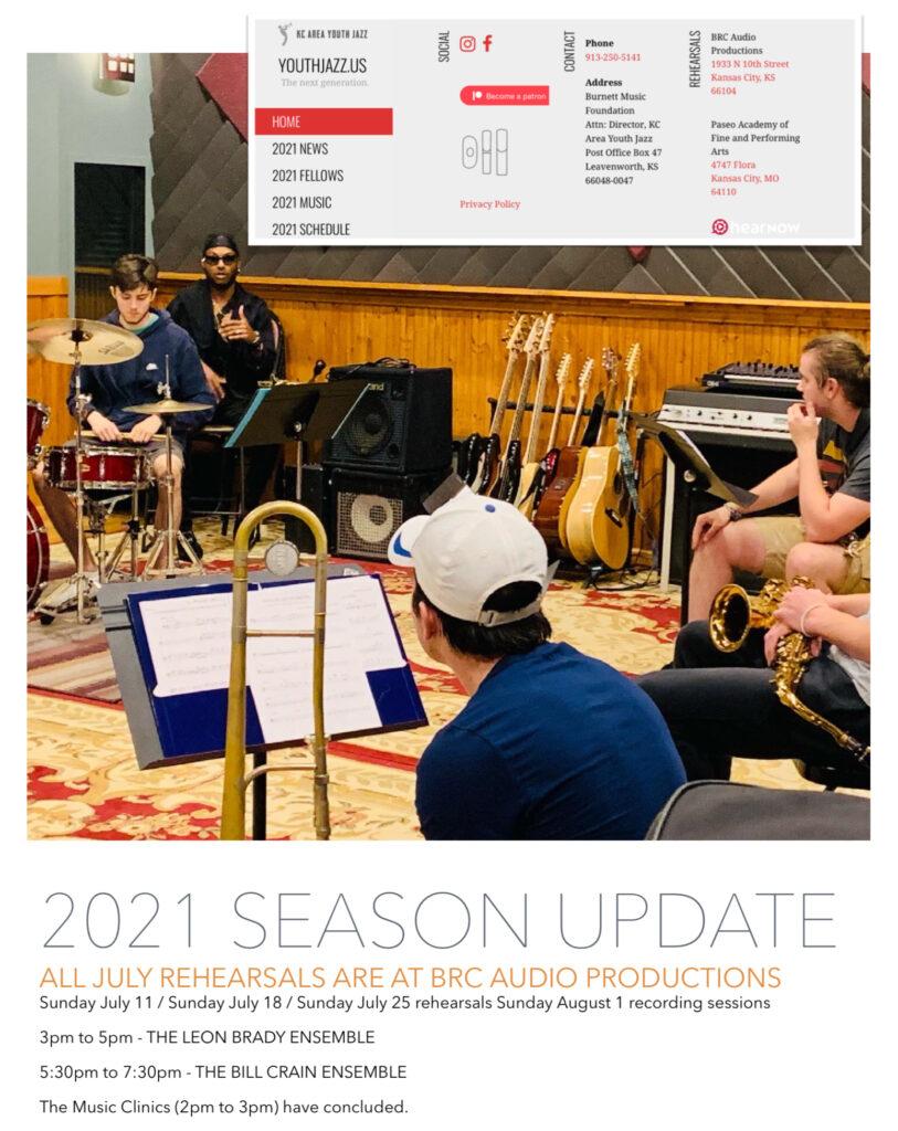 2021 season July update